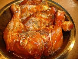 cuisiner cuisse de poulet au four cuisses de poulet marinées et rôties les recettes de virginie