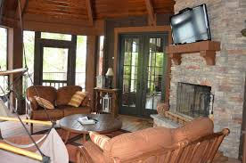 cabin house plans screened porch