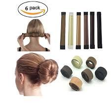 bun maker 6 pcs diy women hair bun maker twist donut bun hairstyle