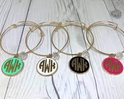 monogram jewlery monogram jewelry etsy