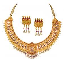 gold set orra gold set necklace gsn14182 sone ka har set orra jewellers