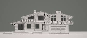 3d chalet house cgtrader