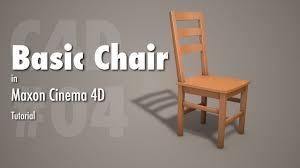 cinema 4d tutorial basic wooden chair youtube