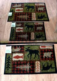 Kitchen Rugs With Rubber Backing Moose R Us Com Mohawk Plush Lodge Collage Rubber Backed Kitchen