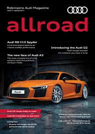 audi headlights poster allroad robinsons audi magazine issue no 01 by robinsons motor