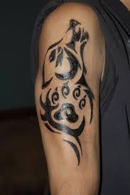 dangerous awesome wolf face stencil tattoo design tattooshunter com