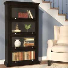 Wall Bookcase With Doors Bookcases With Doors You Ll Wayfair