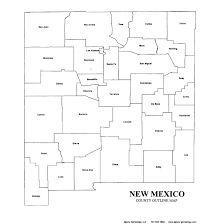 Map New Mexico by New Mexico County Map U2013 Jigsaw Genealogy