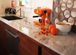 Kitchen Marble Top Beauteous Modern Kitchen Design With Burled Beach Marble Table Top