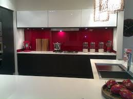 Red Kitchen Designs Elegant Kitchen Design With Open Cabinets Below The Gas Stove Top