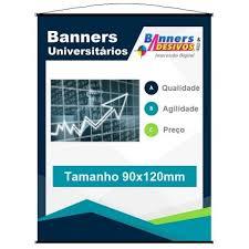 Famosos Banner Universitário Impresso 90 x 120 cm | Banners e Adesivos &YI11