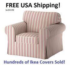 Ektorp Armchair Ikea Ektorp Chair Mobacka Stripe Red Beige Striped Armchair Slip