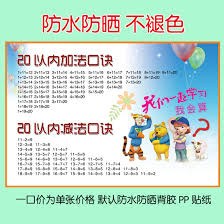 multiplication tables for children usd 6 52 multiplication tables and the alphabet table baby wall