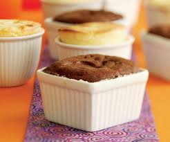 warm chocolate soufflé cakes that make their own sauce finecooking