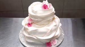 wedding cake no fondant most beautiful ruffle wedding cake how to decorate by cakes