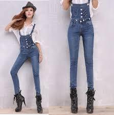 jean rompers and jumpsuits 2015 fashion denim jumpsuits rompers elastic denim
