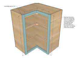 How To Make A Building Plan Free by Ana White Wall Corner Pie Cut Kitchen Cabinet Diy Projects