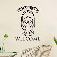 169 Best Wall Decals Images by Aliexpress Com Buy High Quality Indian Yoga Namaste Vinyl Wall