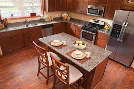 kitchen cabinets on top of floating floor laminate flooring in the kitchen