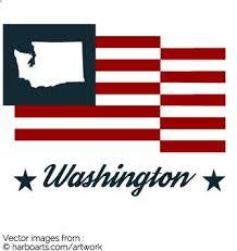 download washington state map bumper sticker flag vector graphic