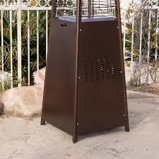 Garden Sun Table Top Patio Heater by 42 000btu Deluxe Outdoor Pyramid Propane Glass Tube Dancing Flames