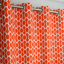Orange White Curtains Dignified Of Grommet Top Curtains In Coral Buble Orange Curtains