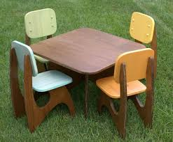 kids art table and chairs modern child table set 4 chair option by jesseleedesigns on etsy