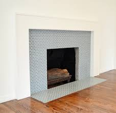 ocean mini glass tile fireplace surround subway tile outlet