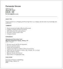 Computer Savvy Resume Warehouse Experience Resume Sample Top Resume Objective Examples