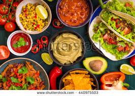cuisine salsa mixed food food guacamole stock photo 440975503