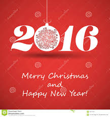 merry and happy new year greeting card creative design