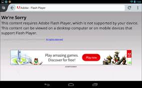play flash on android how to install adobe flash player on android 4 1 and higher devices