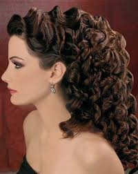 wedding hairstyle for long curly hair short curly hair