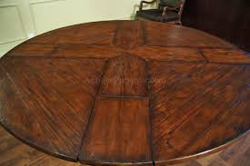 Round Pedestal Dining Table With Leaf 59 To 74 Inch Round Solid Walnut Country Style Dining Table