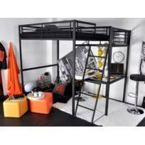 lit surélevé avec bureau lit mezzanine avec bureau achat lit mezzanine avec bureau pas cher