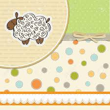 cute baby shower card with sheep royalty free cliparts vectors