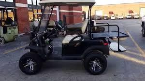 custom lifted club car precedent golf cart with new black body a