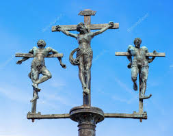 sculpture crucifixion of jesus christ inri u2014 stock photo