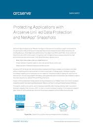 protecting applications with arcserve unified data protection and