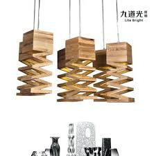 Wooden Chandelier Modern Modern Wood Chandelier Modern Minimalist Restaurant L