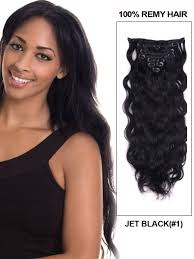 22 inch hair extensions inch wavy clip in human hair extensions 1 jet