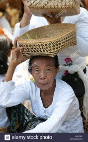 elderly woman clothes bali indonesia elderly woman in national clothes with a gift to