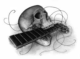 guitar skull by kiki71 on deviantart
