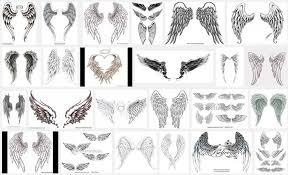 delicate wing tattooic