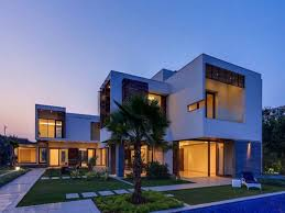 house design luxury modern idea with gray brown wall doors and