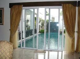 curtains for glass doors patio door curtain rods patio door drapery ideas window valances