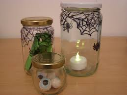 Mason Jar Halloween Lantern Halloween Decorations 2 Ways To Decorate Using Jars Spider Web