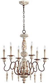 up down lighting chandelier quorum quorum international 6052656 la maison 6 light 1 tier up down