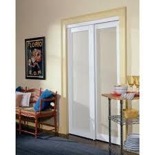 Truporte Closet Doors Truporte 48 In X 80 50 In 2010 Series White 1 Lite Composite