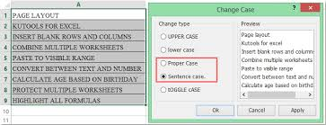how to change all caps to lowercase except first letter in excel